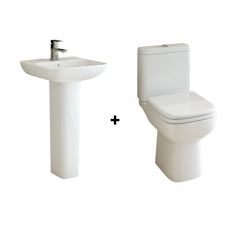 Primo Full Pedestal Basin and Toilet Suite
