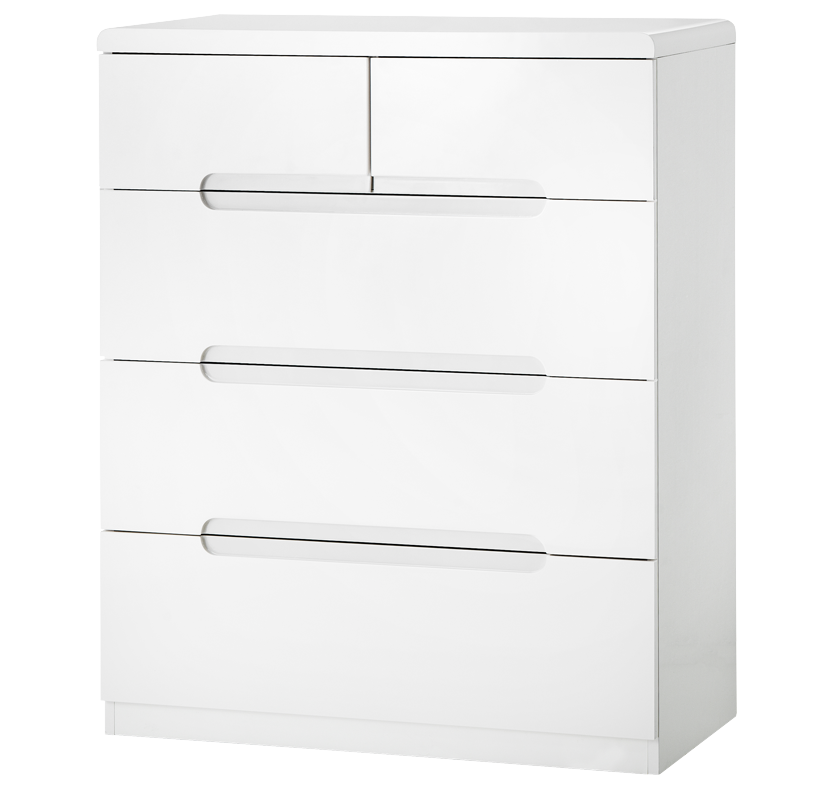 Rockefeller 3+2 Drawer Chest - White
