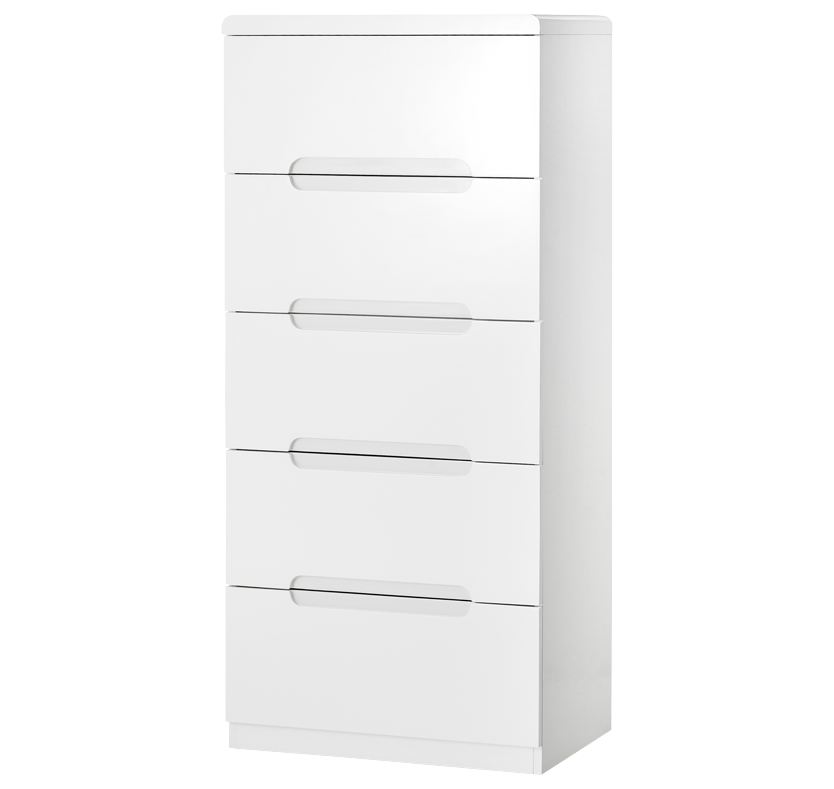 Rockefeller 5 Drawer Tall Chest - White