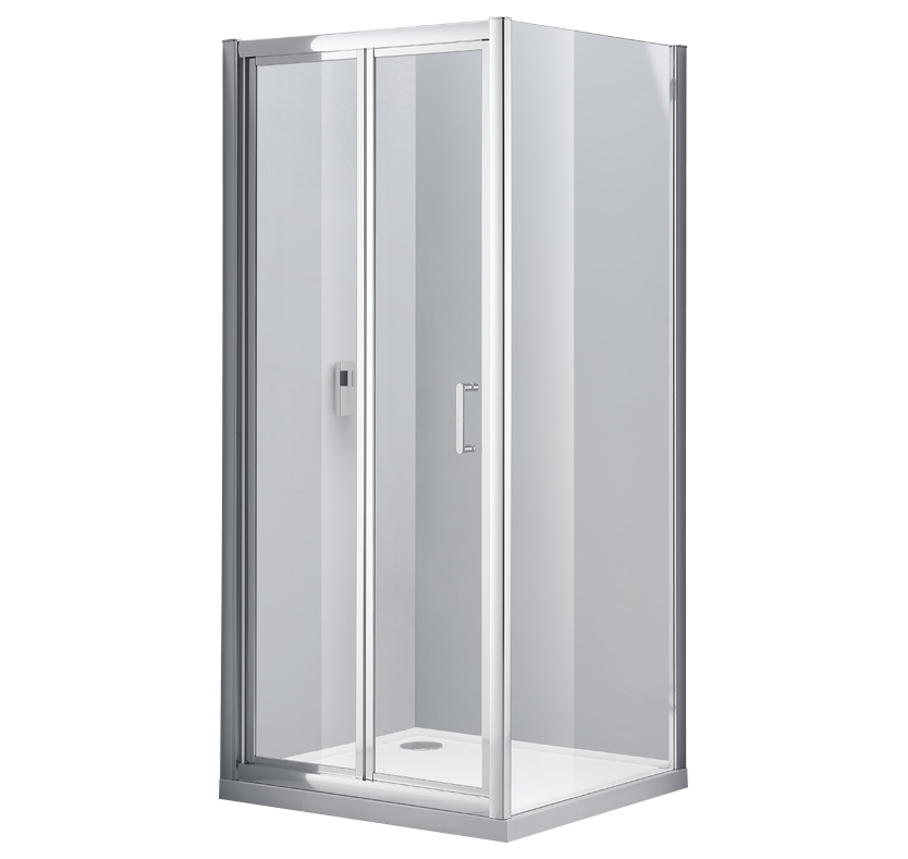 S6 Luxury 6mm Bi-Fold Shower Enclosure 900mm x 700mm