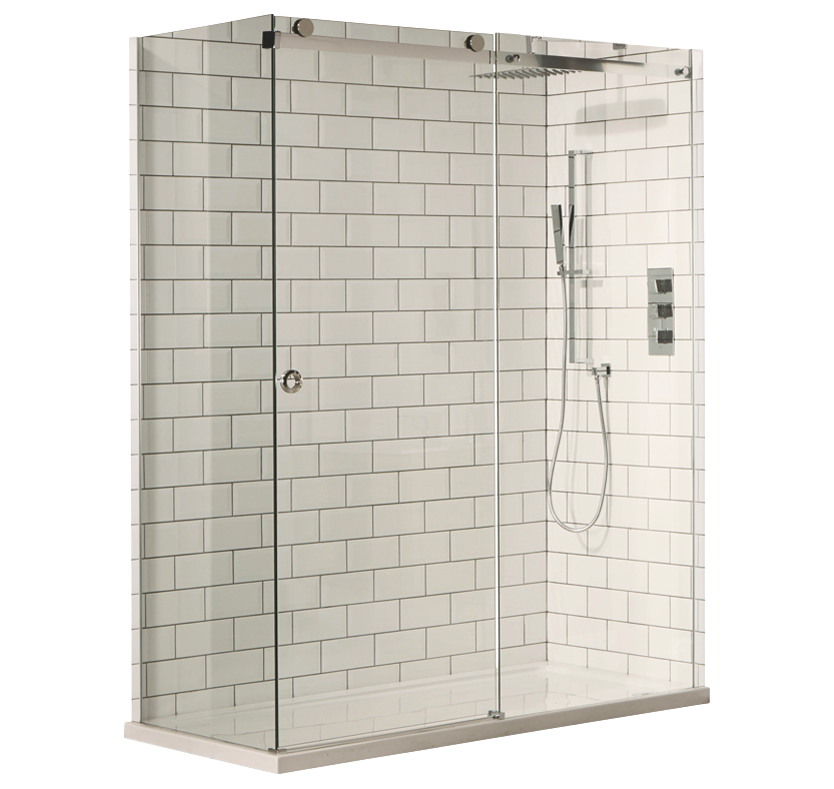 S8 Cube 8mm Sliding Shower Enclosure - 1600mm 1600mm x 700mm
