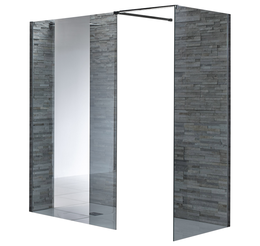 S8 Square 8mm Mirrored WalkIn Shower Enclosure 900mm x 900mm