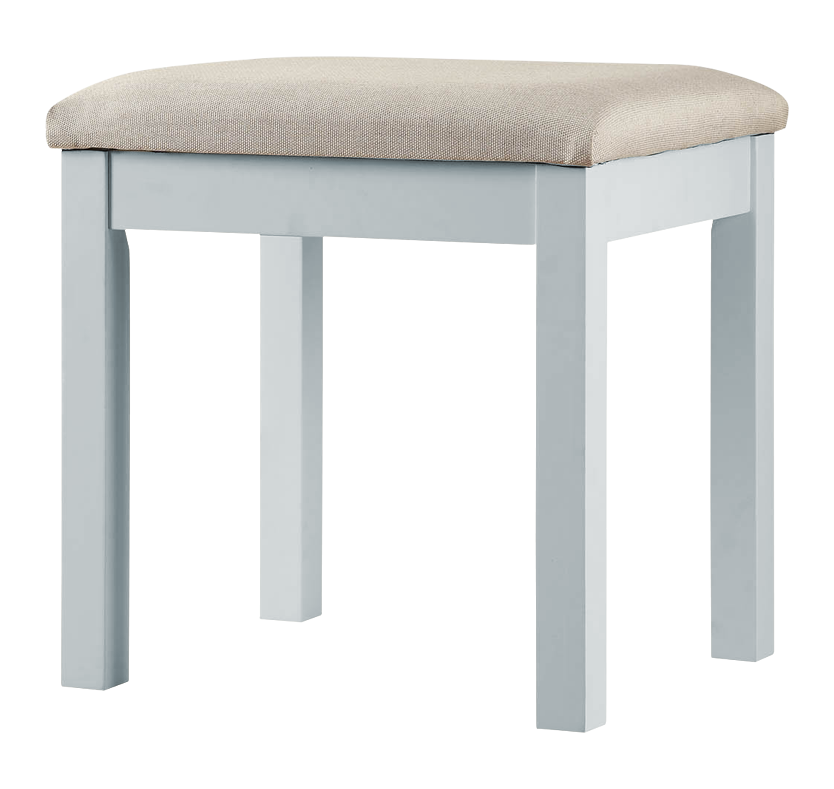 Corina Dressing Table With Stool And Mirror Dove Grey
