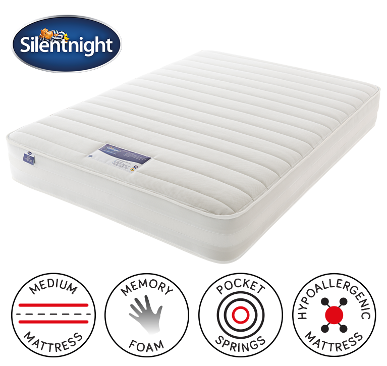 Silentnight 1200 Pocket Memory Mattress Single