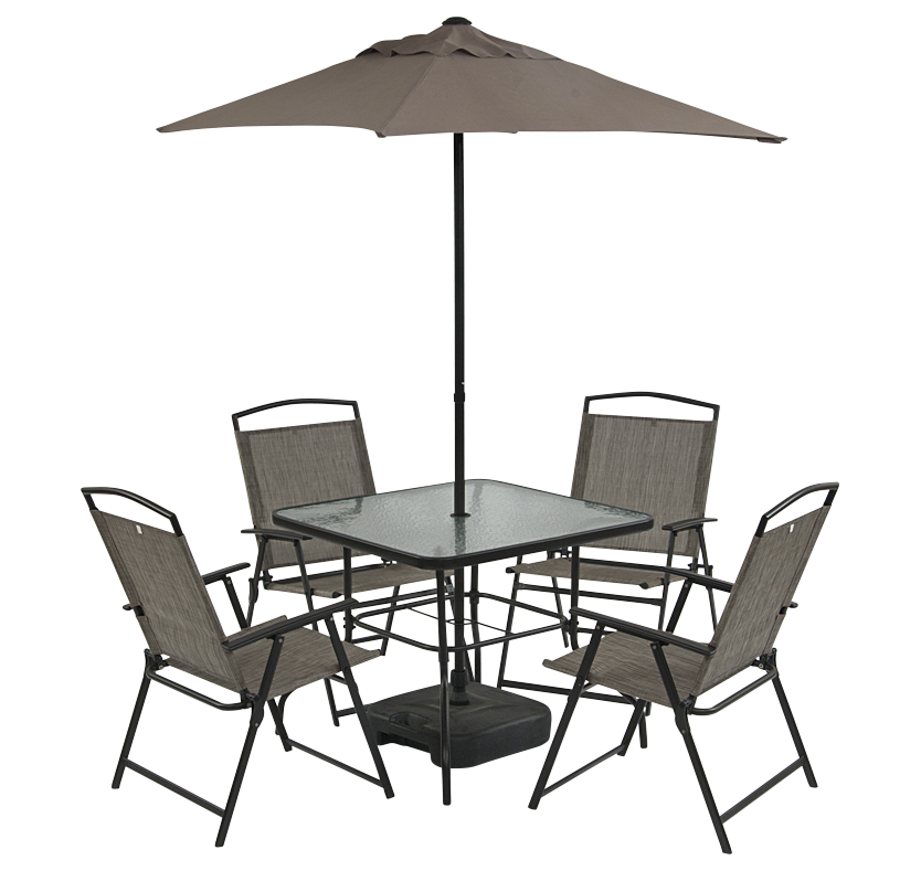St Ives 4 Seat Patio Set with Parasol