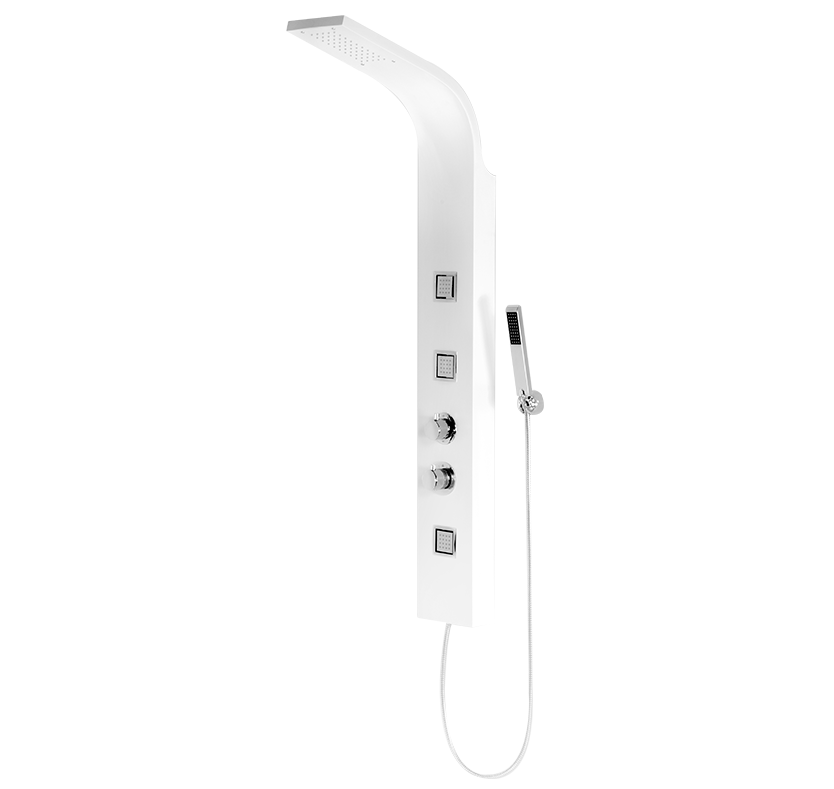 Chime Thermostatic Shower Panel  White