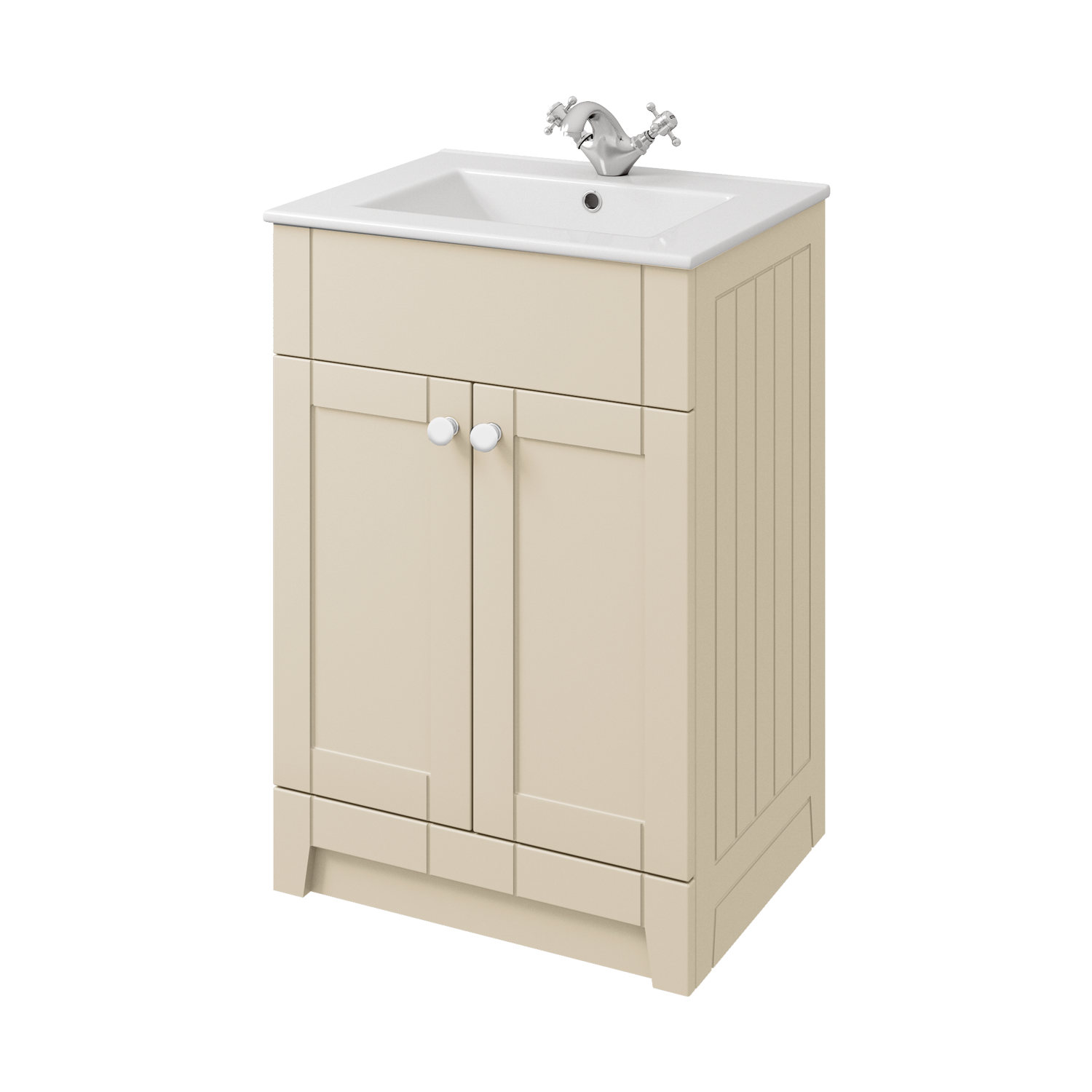 Stately Vanity Unit and Basin - Cream