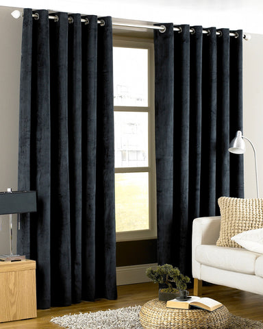 Imperial Velvet-Touch Lined Eyelet Curtains - Silver — Matalan Direct