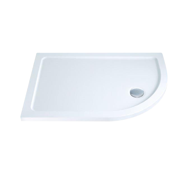Gulf RightHand Offset Quadrant Shower Tray with Waste 900mm x 760mm