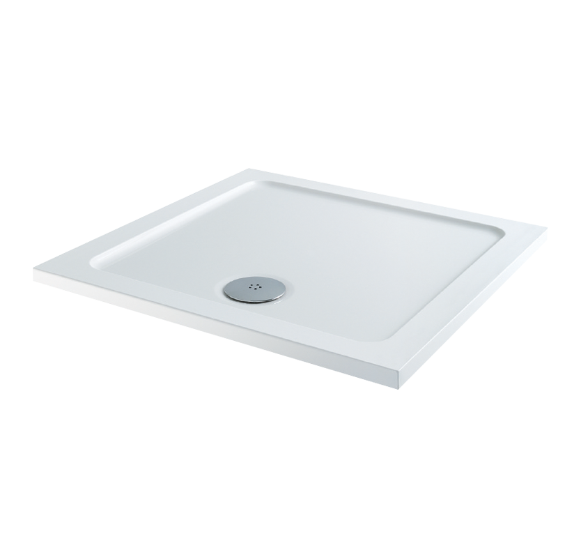 Pebble Square Shower Tray with Waste 900mm x 900mm