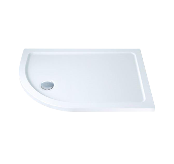 Gulf Left-Hand Offset Quadrant Shower Tray with Waste 1000mm x 800mm