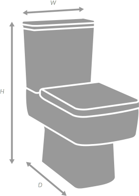 F60 Moderno Close Coupled Toilet with Soft-Close Seat