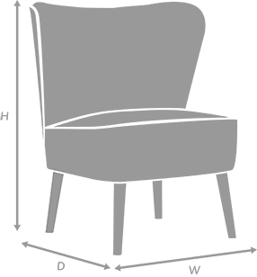 Occasional Chair Diagram for illustration purposes only