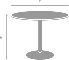 Table Diagram for illustration purposes only