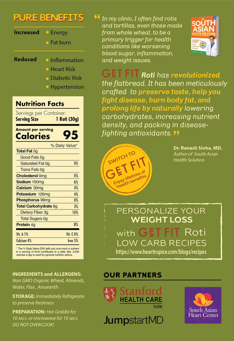 GET FIT Roti - Classic Flavor (LowCarb, High Antioxidant, Organic, Non GMO)