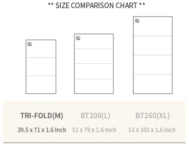 standard trifold size