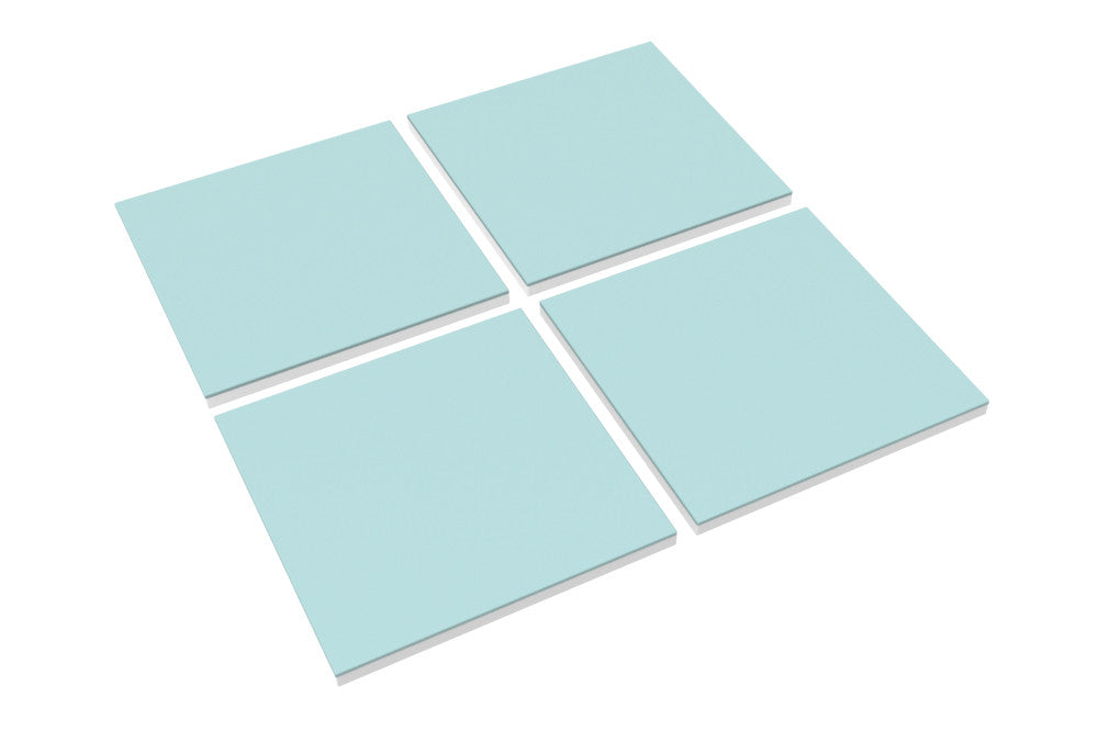 Modular Cube Play Mat - Blue (Set of 4) - CreamHaus USA - Stylish Non-toxic Foam Baby Play Mats