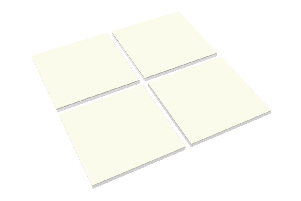 Modular Cube Play Mat - Cream (Set of 4) - CreamHaus USA