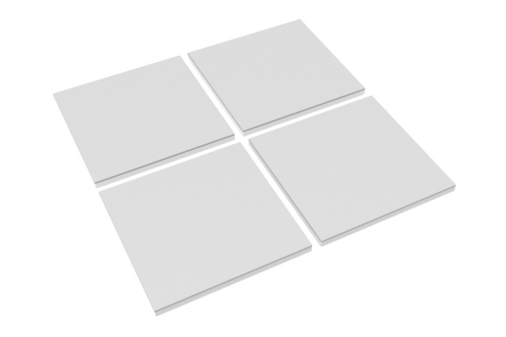 Modular Cube Play Mat - Grey (Set of 4) - Safe Non-toxic Baby Foam Play Mats by CreamHaus USA