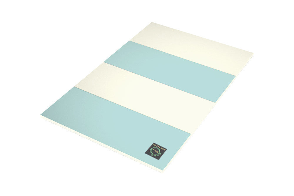 Folding Play Mat - Blue/Cream - Safe Non-toxic Baby Foam Play Mats by CreamHaus USA