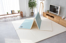 Folding Play Mat - Blue/Cream - CreamHaus USA - Premium Baby Play Mats