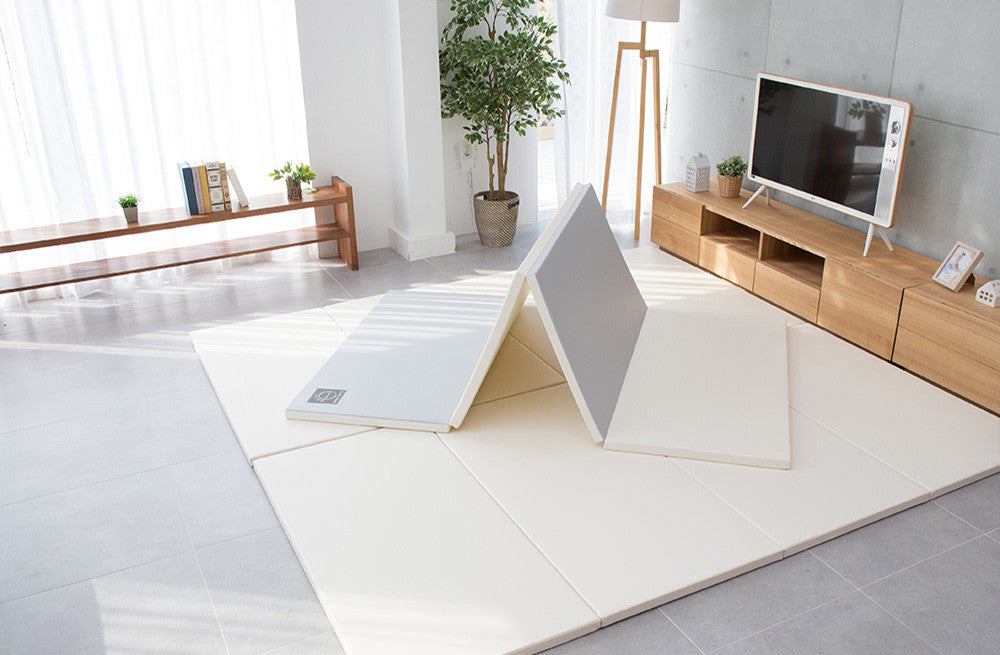 Folding Play Mat - Grey/Cream - CreamHaus USA