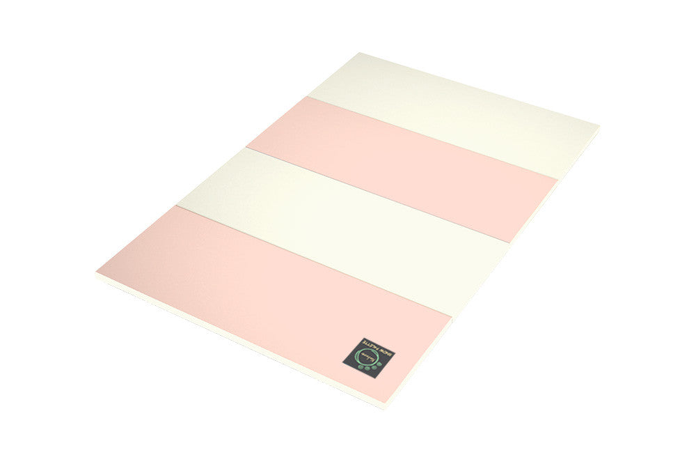 Folding Play Mat - Pink/Cream - CreamHaus USA - Premium Baby Play Mats