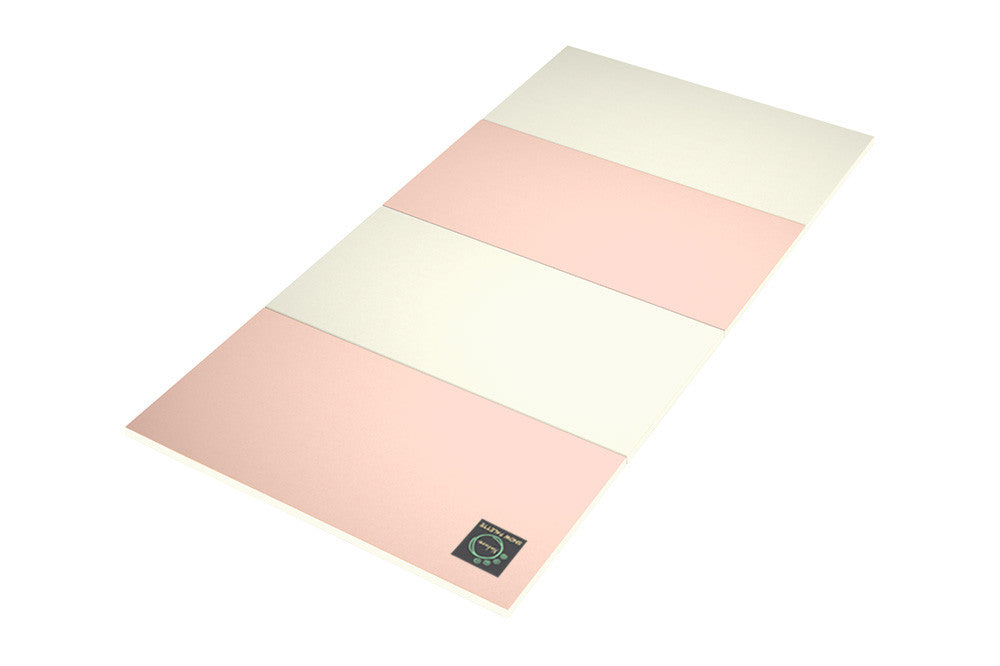 Folding Play Mat - Pink/Cream - Safe Non-toxic Baby Foam Play Mats by CreamHaus USA