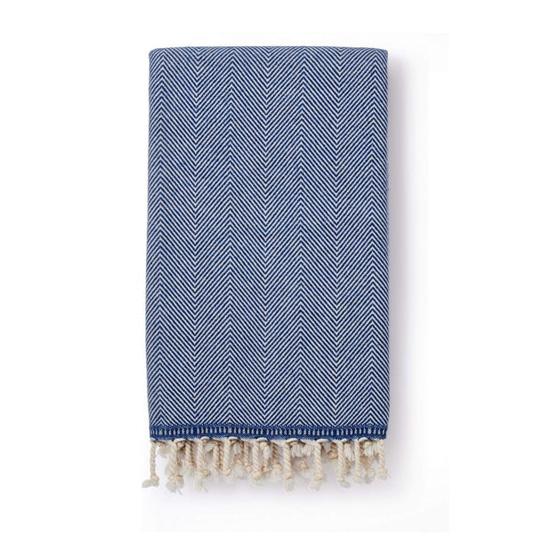 Sema Herringbone Cotton & Wool Blend Blanket Denim - Blanket