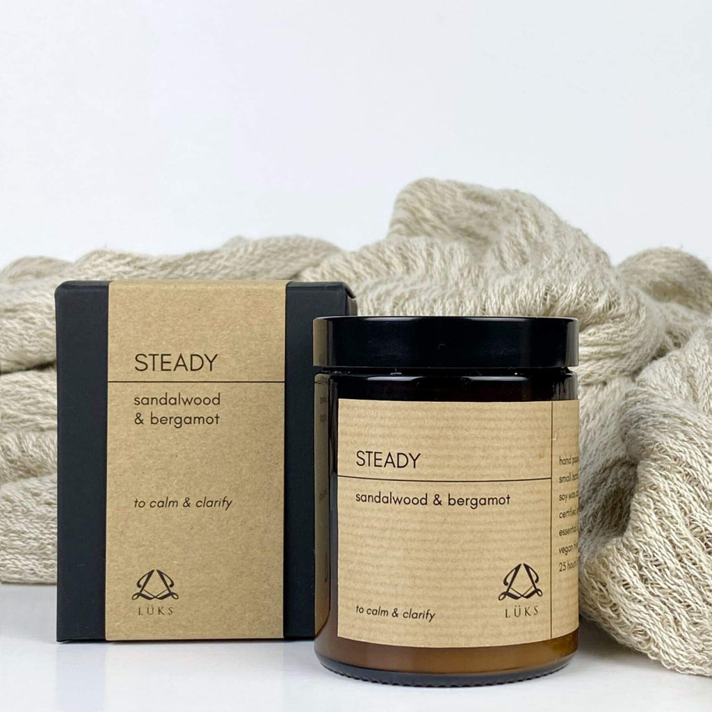 Steady - Sandalwood & Bergamot Soy Wax Candle