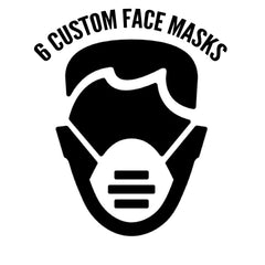 6 Custom Screen Printed Face Masks