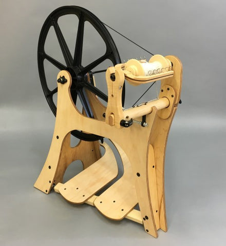 The Flatiron Spinning Wheel, free UK shipping and Starter Pack, NOW IN STOCK