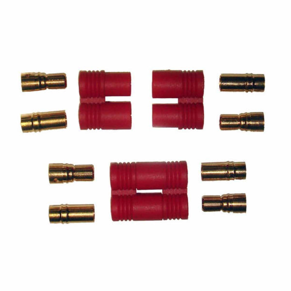 XT 6MM Battery Connectors (Two Pairs)-Electrical Parts-Helilids RC Hobbies