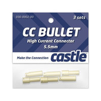 Castle Creations 5.5mm Bullet Connectors-Electrical Parts-Helilids RC Hobbies