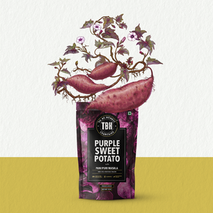 Purple Sweet Potato with Pani Puri Masala