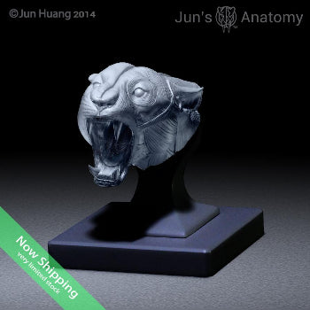 "Jaguar Anatomy Model open-mouth ""Roar"" head"