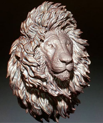 Lion wall hanger (faux taxidermy) Jun's Deco