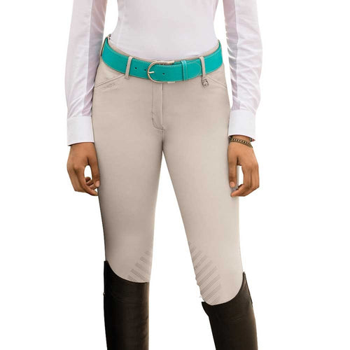 Romfh sarafina breech with a silicone knee patch, in beige.