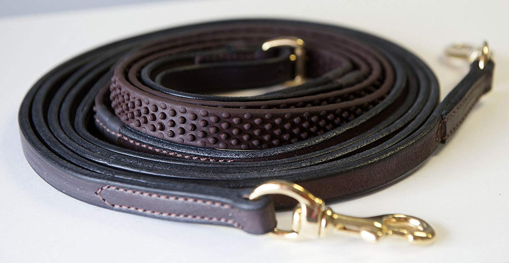 Sure grip leather draw reins by Nunn Finer
