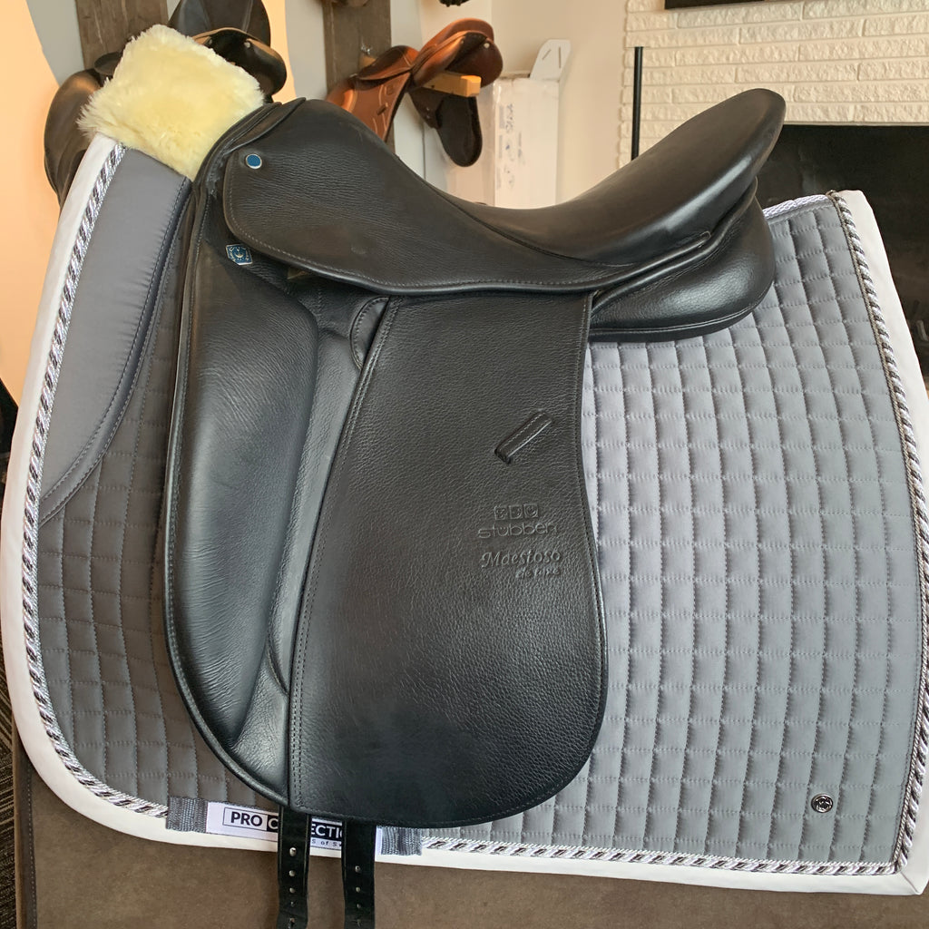 Used Stubben dressage saddle 17""