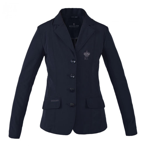Girls show jacket in navy/black by Kingsland Equestrian.