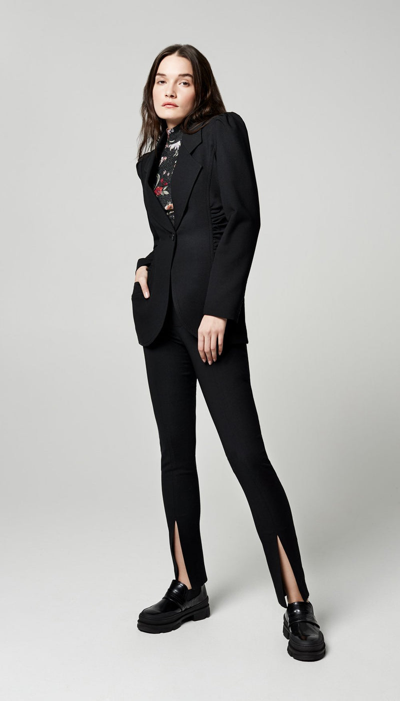 Ruched Blazer