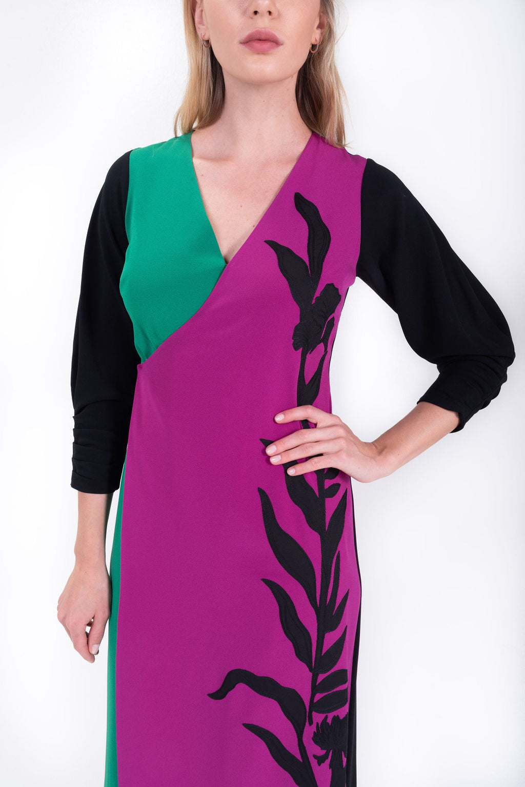 Vines Applique Dido Dress