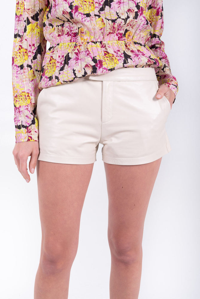 Alma Leather Shorts