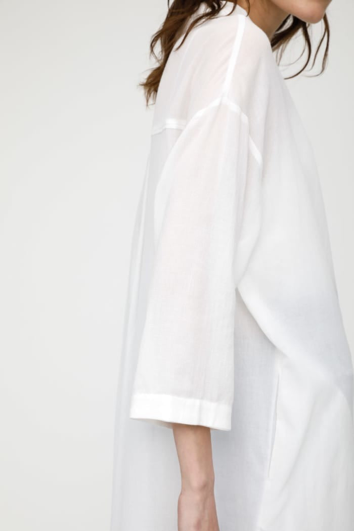 MV Cotton Chiffon Shirt Dress