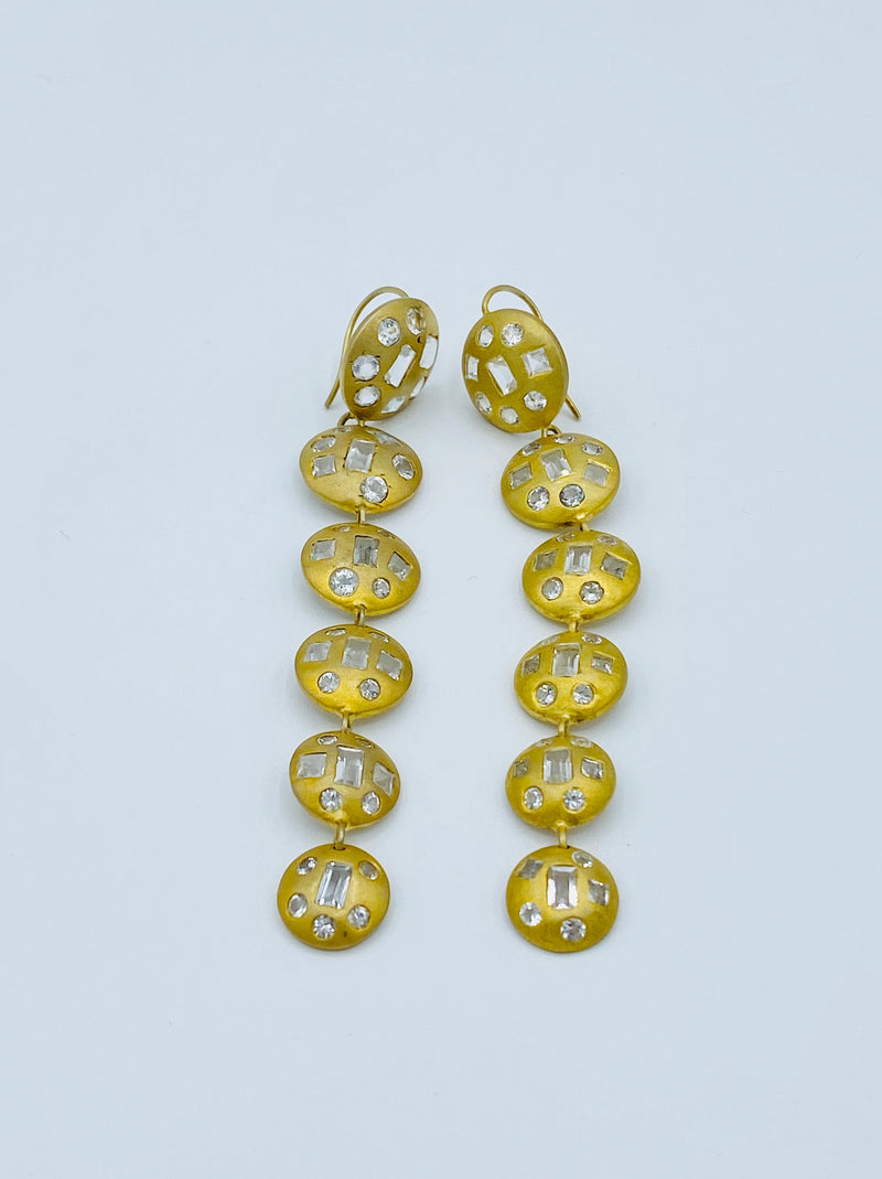 Paula Rosen - Tourmaline Vermeil Drop Earrings