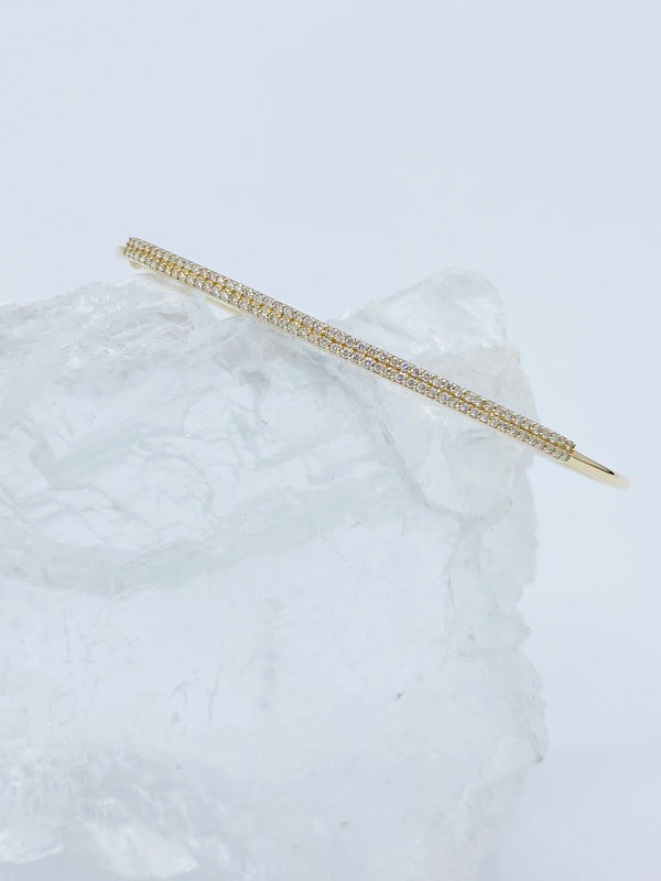 14k Gold with Diamonds Bar Bracelet