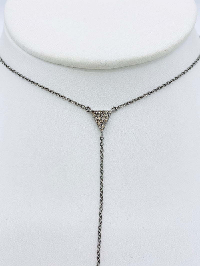 Sterling Silver Triangle Lariat