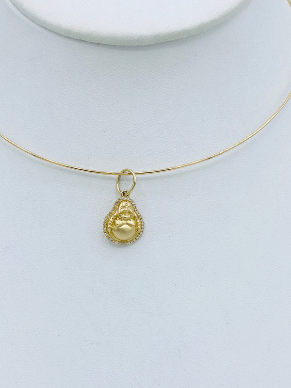 14k Gold Wire With Buddha Charm