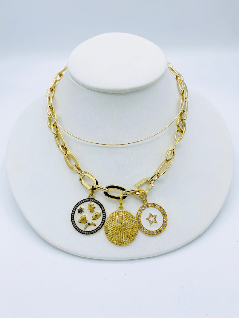 Coin and Charm Necklace